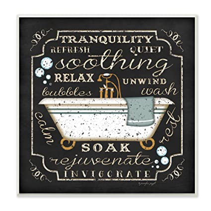 Amazon Com The Stupell Home Decor Collection Tranquility Tub Icon