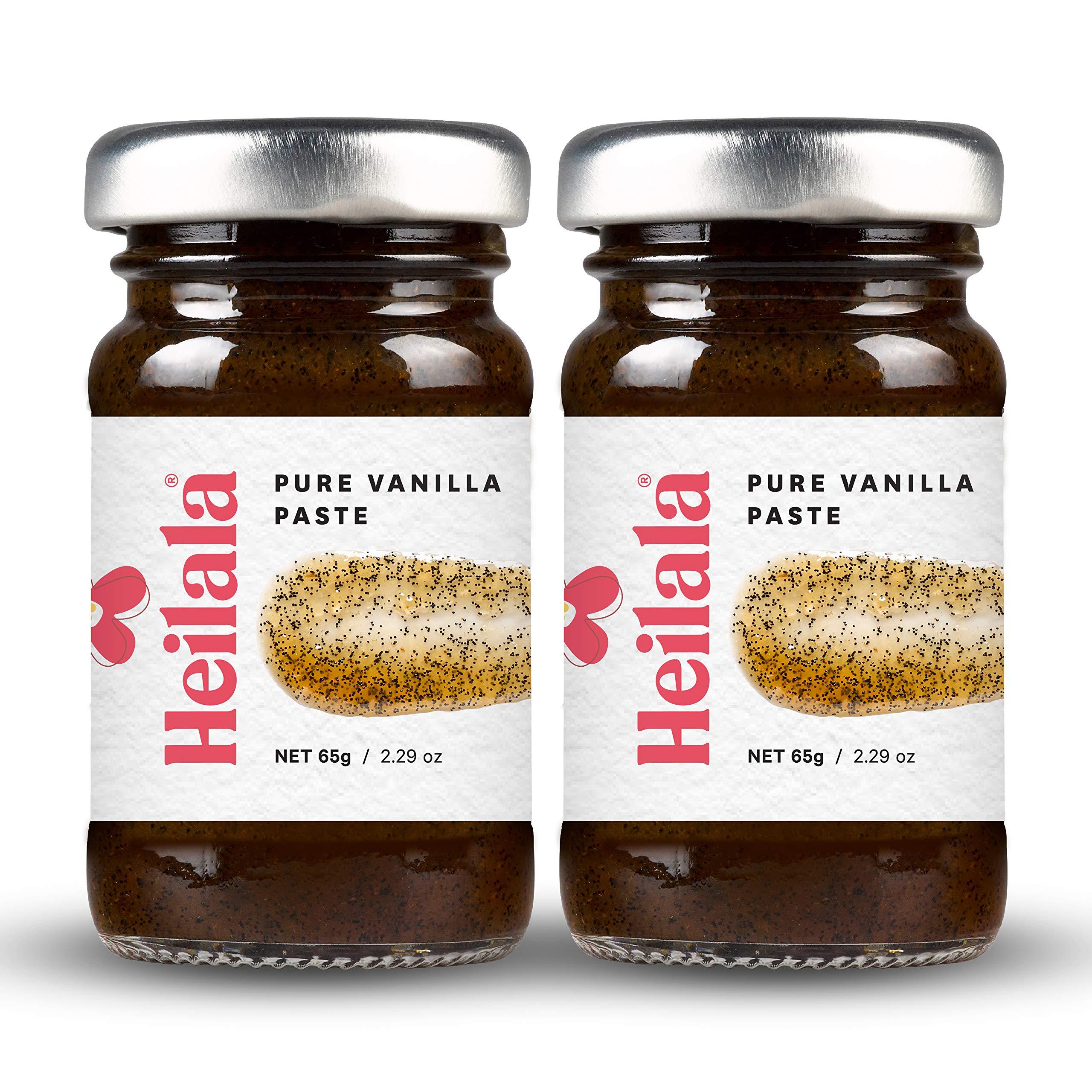 Vanilla Bean Paste for Baking - Heilala Pure Vanilla Bean Paste (2 Pack), Contains Whole Vanilla Bean Seeds