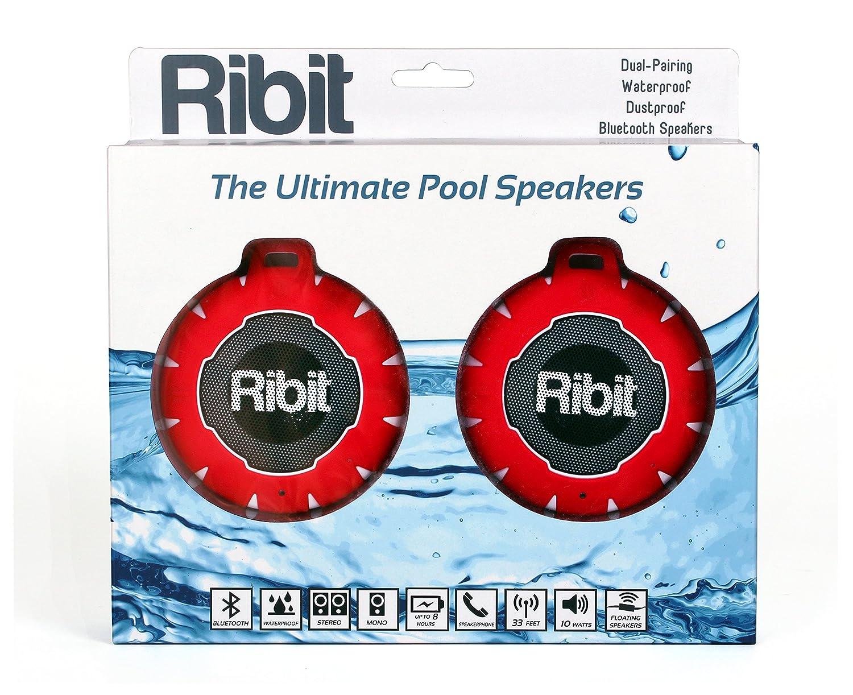 Amazon.com: Ribit™ Red Waterproof Bluetooth Speakers - IPX7 ...