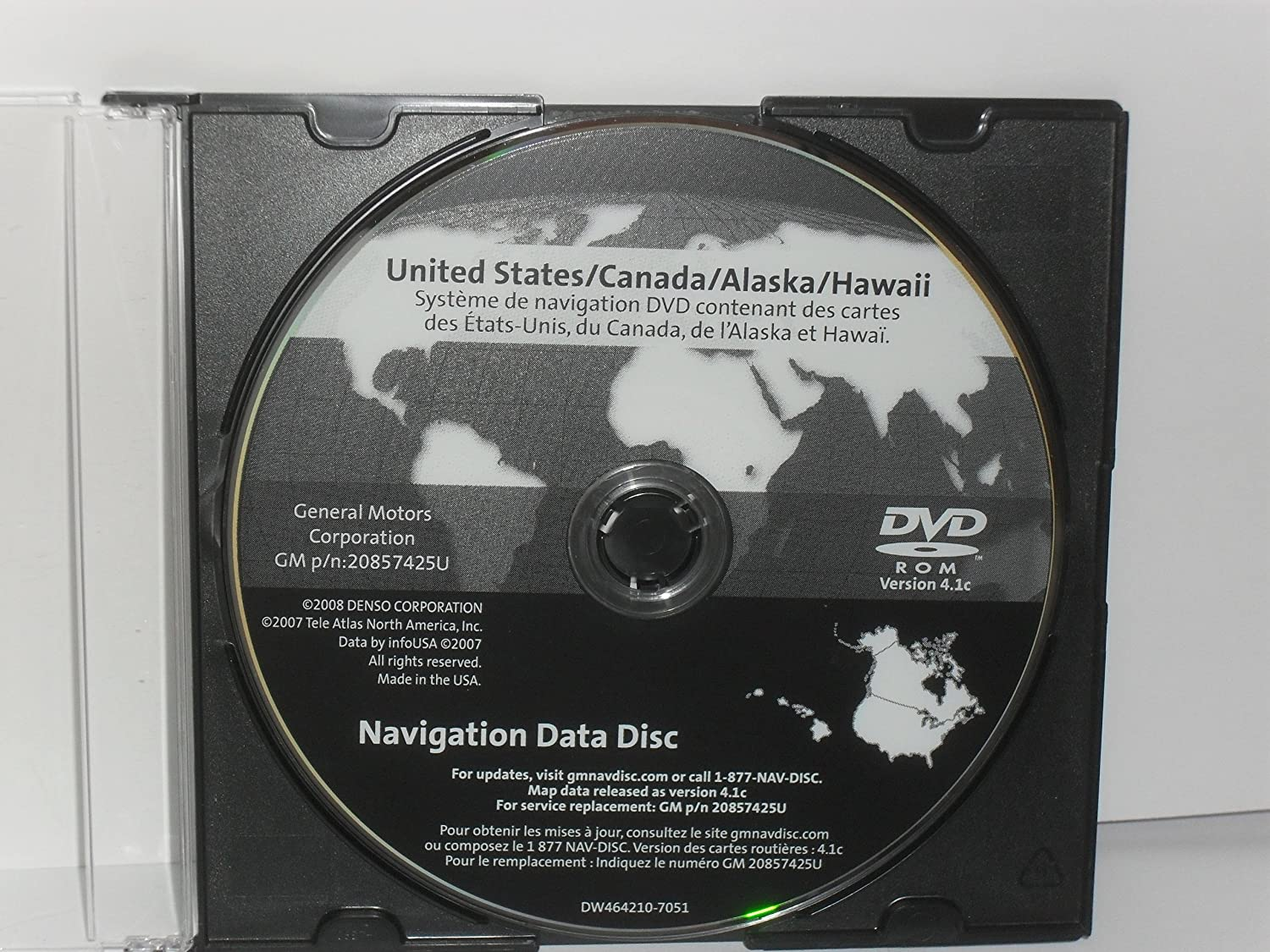 Amazon.com: GM Navigation Disc p/n 20857425 version 4.1c compatible ...