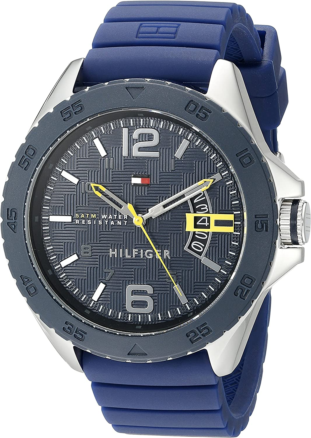 Tommy Hilfiger Men s 1791204 Stainless Steel Casual Sport Watch With Blue Silicone Band