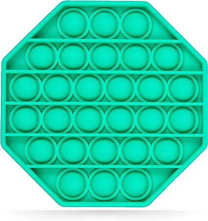 Stimulating Popping It Fidget Toy Pack of 1 Perfect Fidget Pop Game Push Bubbles Push Pop Fidget Toy Sea Green nixo Push Pop Bubble Fidget Sensory Toy Circle