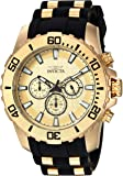 Invicta Men's 'Pro Diver' Quartz Stainless Steel and Silicone Casual Watch, Color:Two Tone (Model: 22558)
