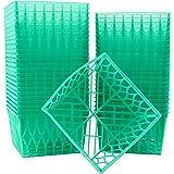绿色塑料浆果篮,非常适合柏瑞、水果、蔬菜和工艺项目 绿色 Pint 1