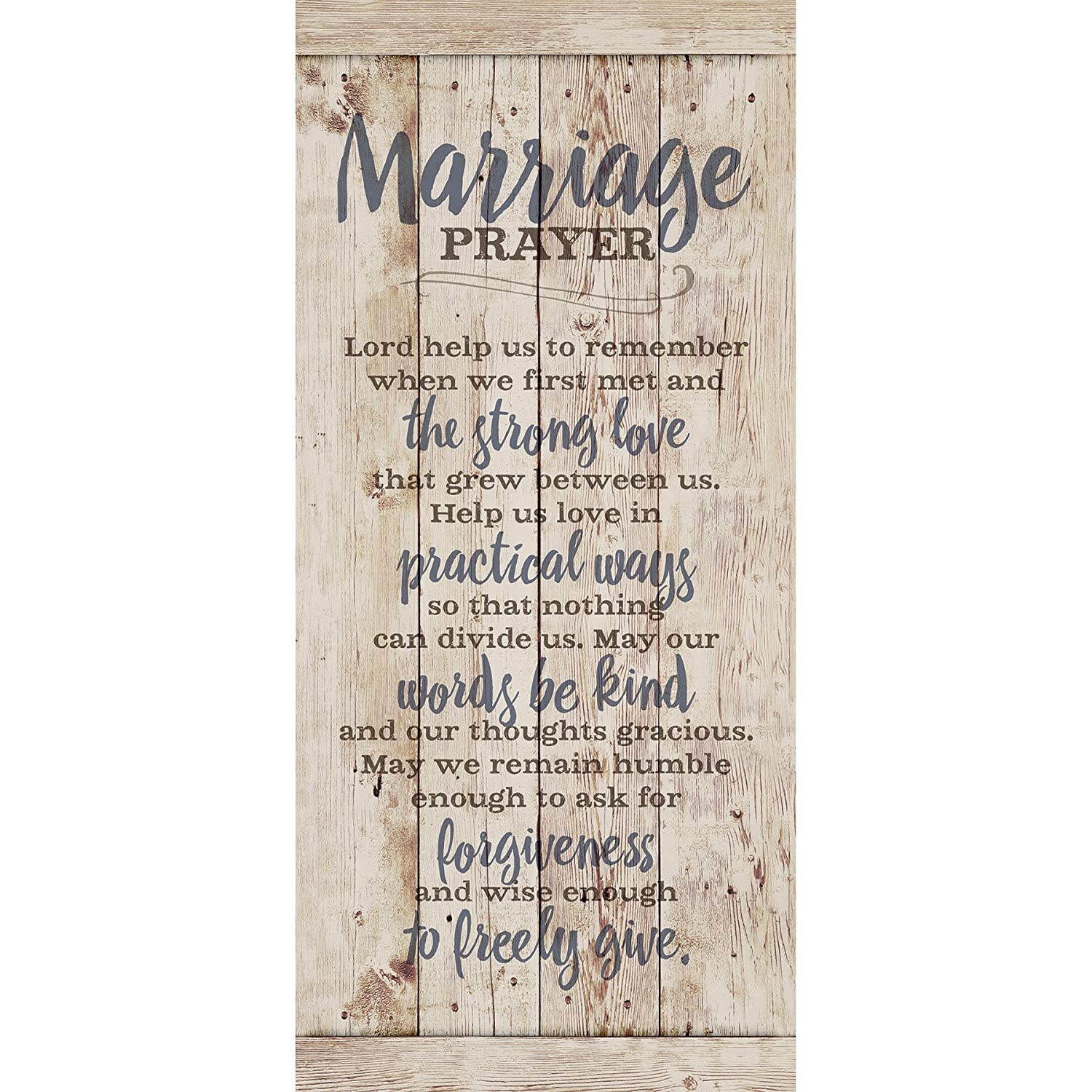 Marriage Prayer Wood Plaque Inspiring Quote 5 5x12 - Classy Vertical Frame  Wall Hanging Decoration | Lord, Help us to Remember When we First met |