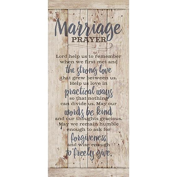 Amazon Com Marriage Prayer Wood Plaque Inspiring Quote 5 5x12