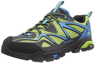 7d6e417055d Merrell Capra Sport Gore-TEX Men 7 Black Lime Green