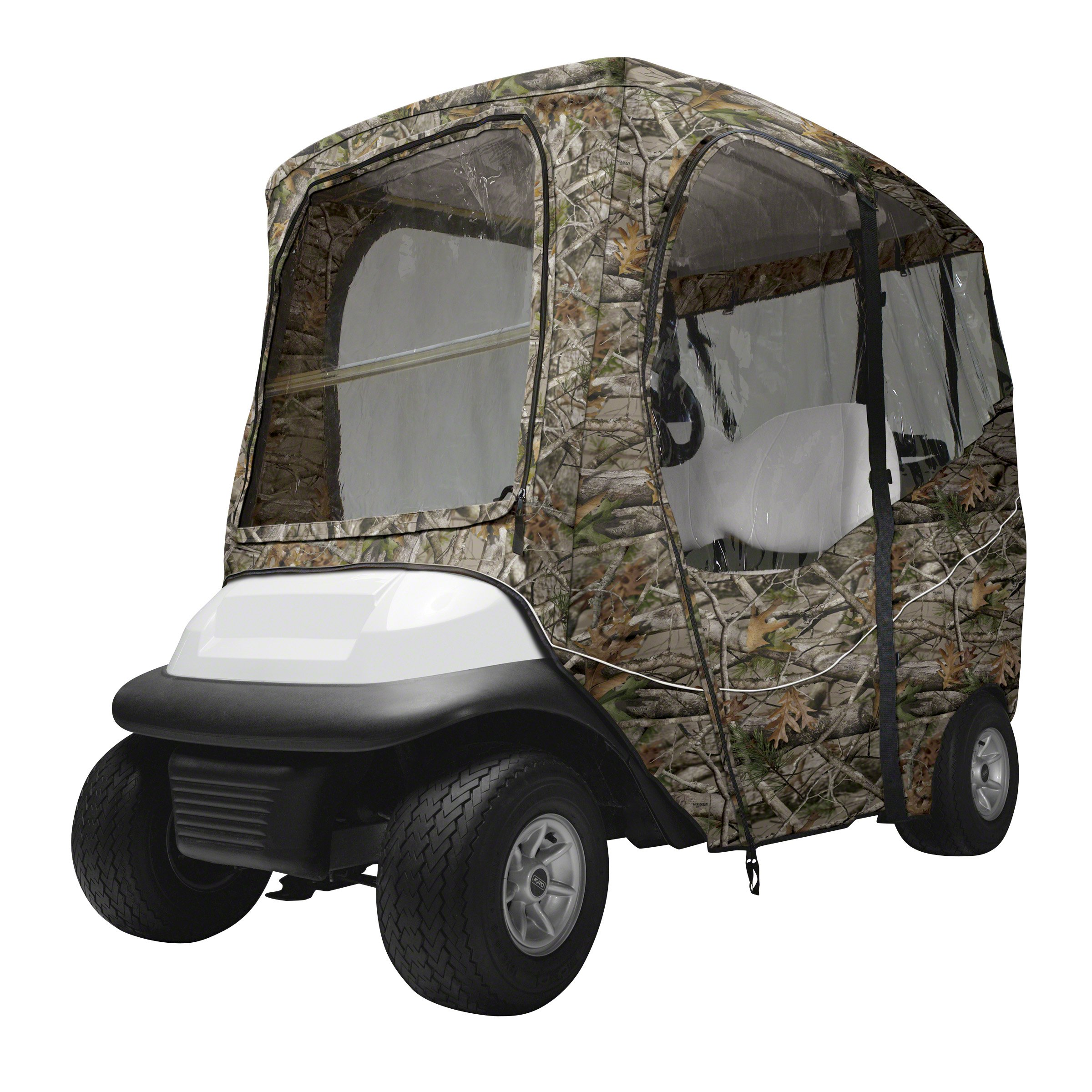 Classic Accessories Fairway Golf Cart Deluxe Enclosure, Camo by Classic Accessories (Image #1)