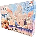 Disney Frozen Play Sand Set for Kids - 1lb (450g) Blue Magic Sand Box with Accessoires: 3 Moulds + Frozen characters - Blue Sculpting Super Sand Kit