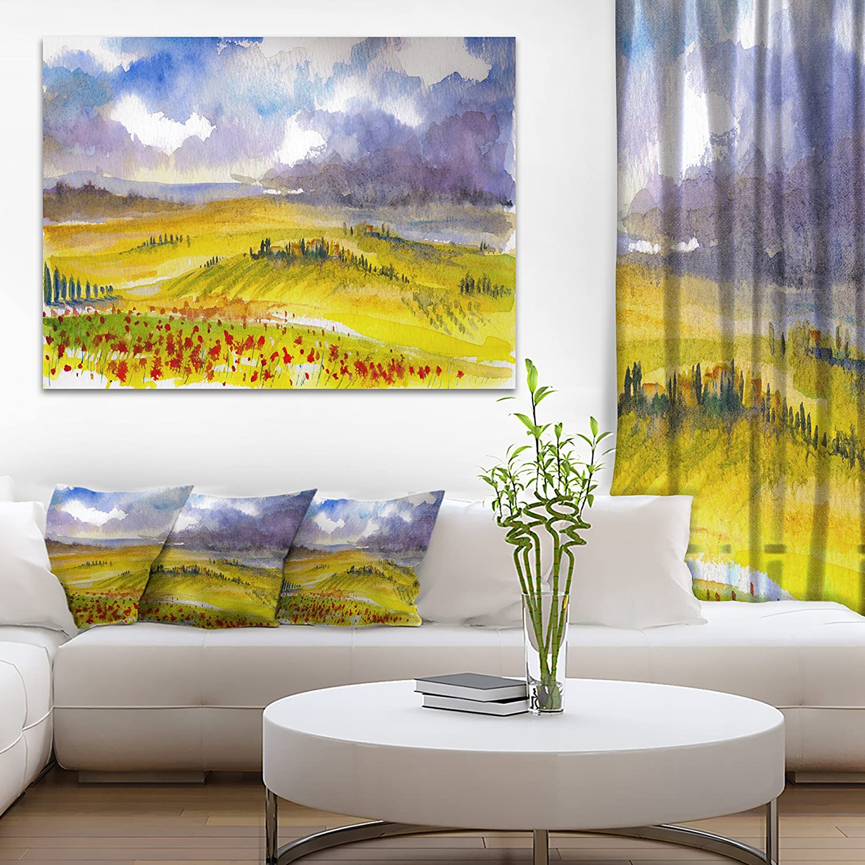 Amazon.com: Beautiful Tuscan Hills Italy Landscape Painting Canvas ...