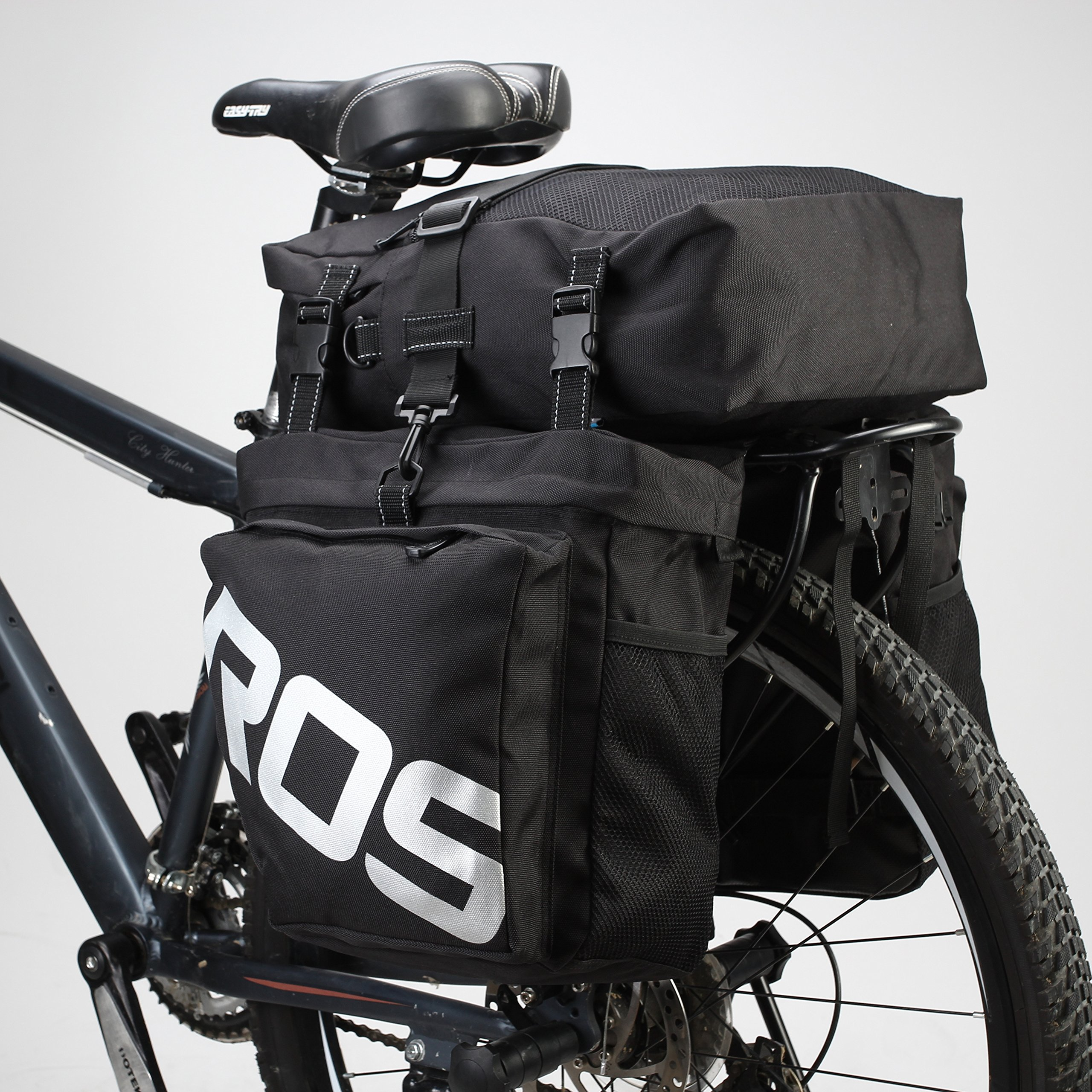 rear cargo in rack back black bike panniers roswheel trunk product multifunction bicycle seat a