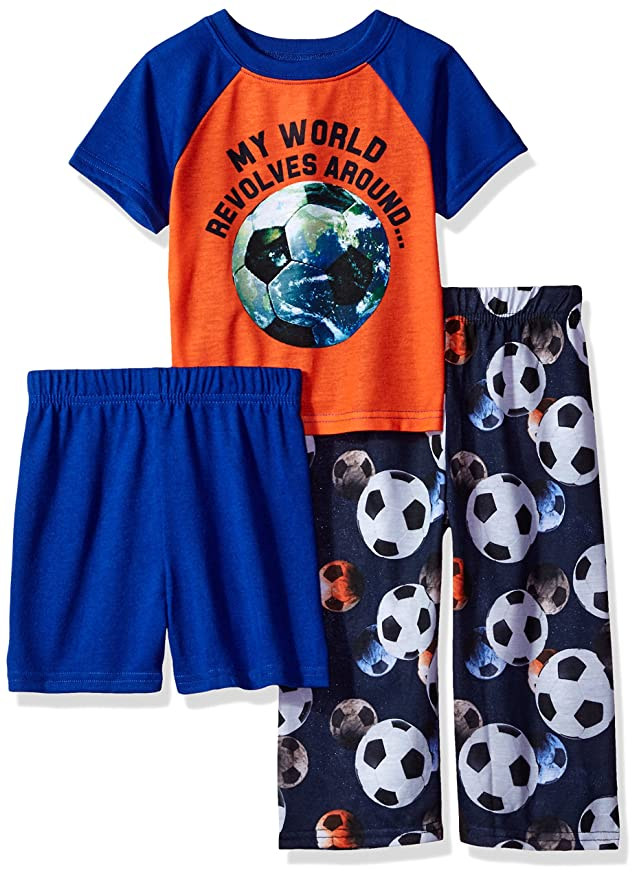 The Children's Place Baby Boys' 3-Piece Pajama Set, Soccer 81697, 3T