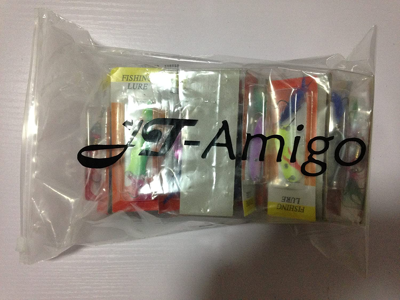 JT-Amigo 30 tlg Blinker und Spinner Set f/ür Hecht Barsch Forelle