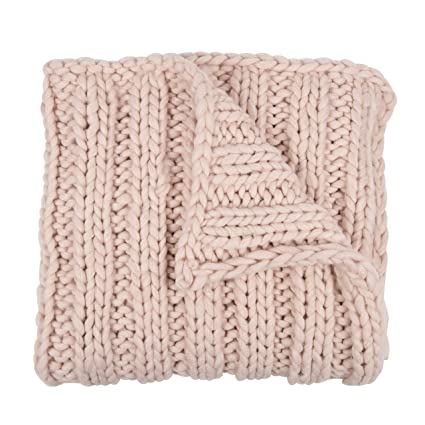 knit throw blanket Amazon.com: Kate and Laurel Chunky Knit Throw Blanket, Soft Pink  knit throw blanket
