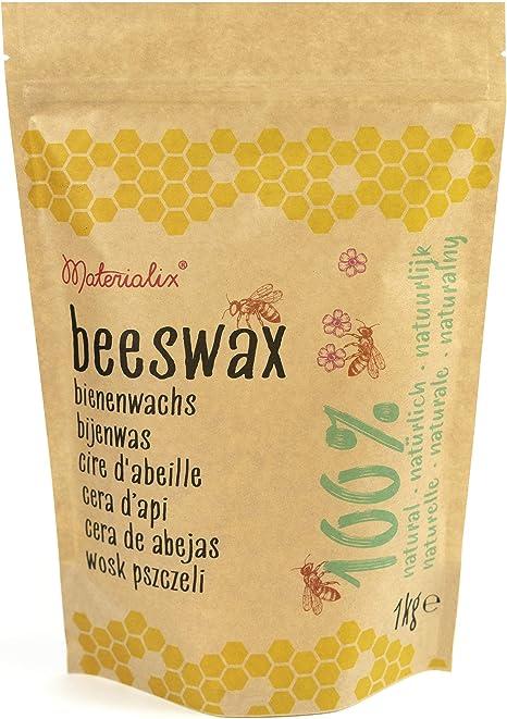 Materialix 100/% nat/ürliche gelbe Bienenwachs pastillen Verschiedene Gr/ö/ßen 250g