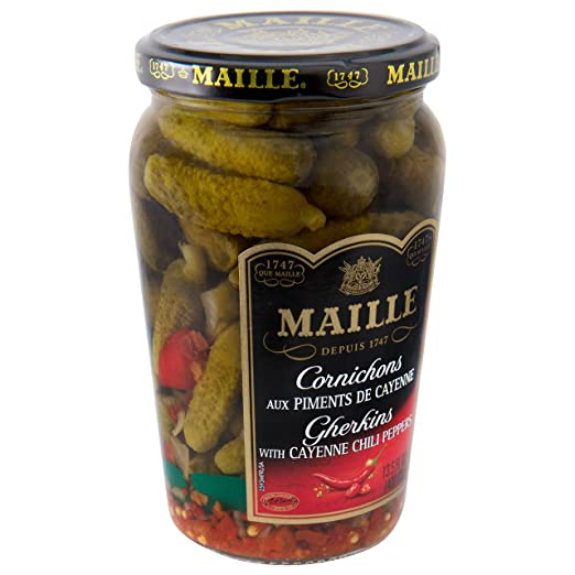 Amazon.com : Maille Pickles, Cornichons with Cayenne Chili Pepper, 13.5 oz, Pack of 12 : Grocery & Gourmet Food