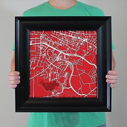 Amazon Com North Carolina State University Campus Map Art 16 5