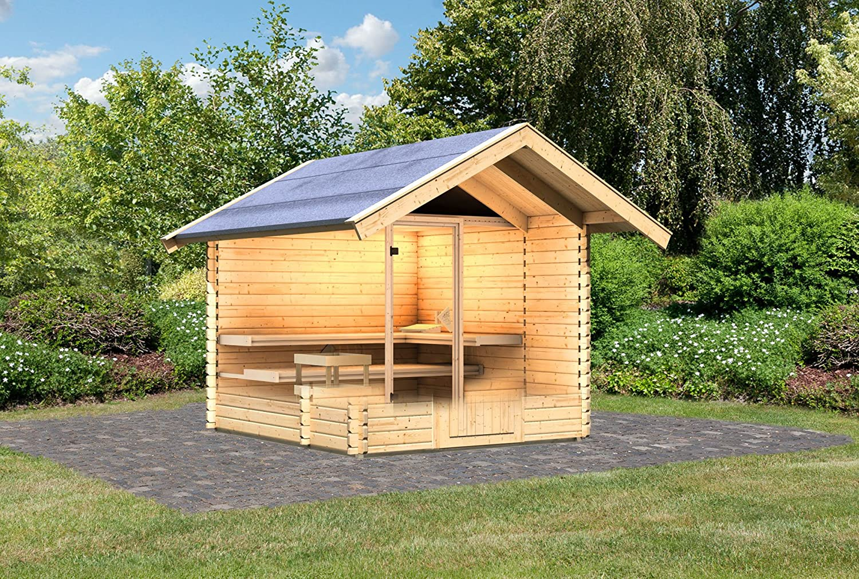 Karibu Saunahaus 2 38 mm inkl. Sauna und Vorraum: Amazon.de: Baumarkt
