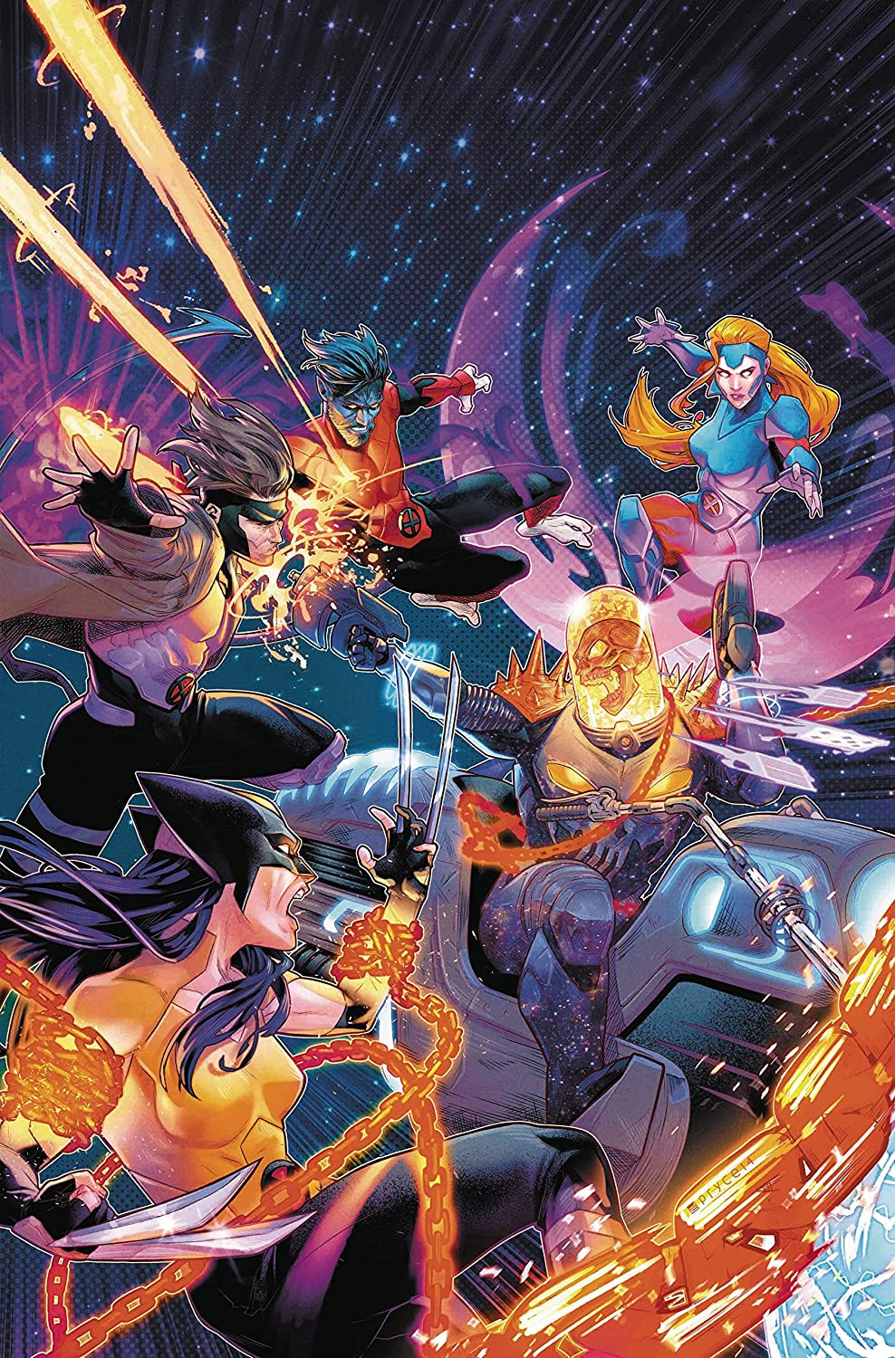 X-Men Red #8 Cosmic Ghost Rider Vs Variant Cover by Jamal Campbell
