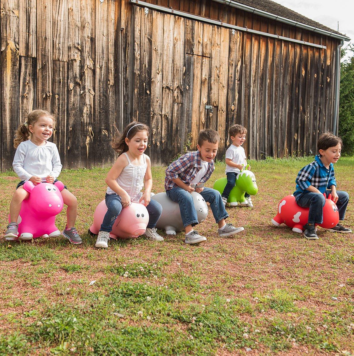FHA1301 Farm Hoppers Award Winning Inflatable Bouncing Pink Pig Plus Pump CJM Kids Inc