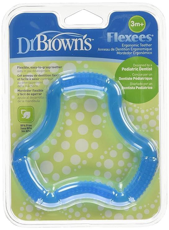 Dr. Browns Flexees - Mordedor con forma de aro, color azul