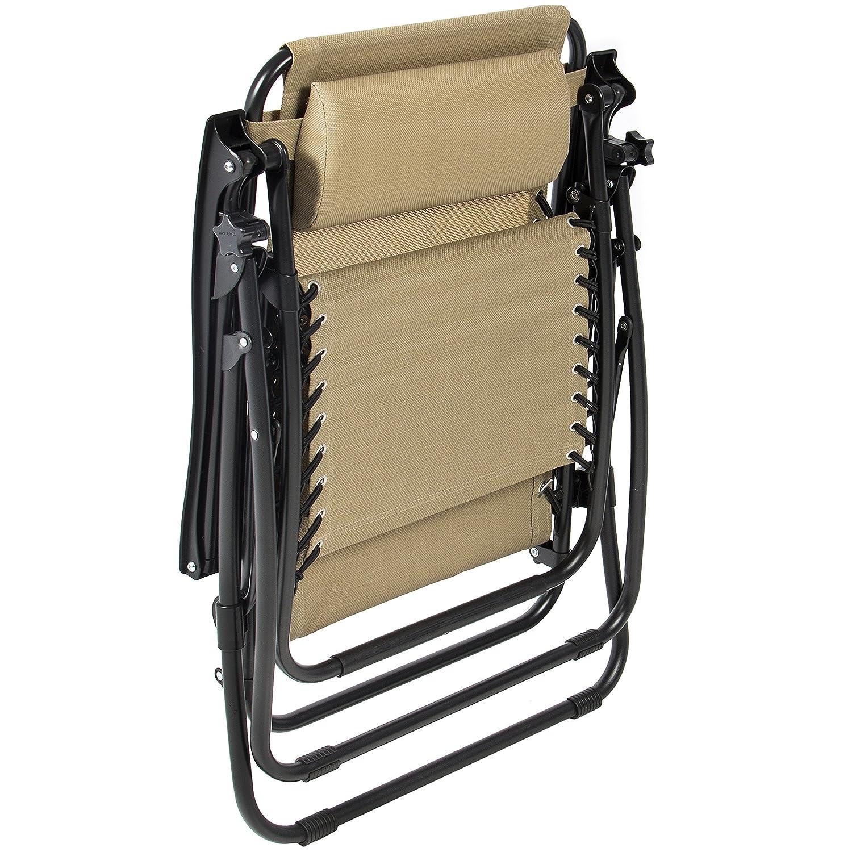 Amazon Best ChoiceProducts Zero Gravity Chairs Tan Lounge
