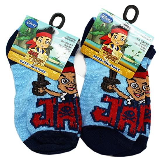 Disneys and the Never Land Pirates Kids Blue Colored Socks (1 Pair, ...