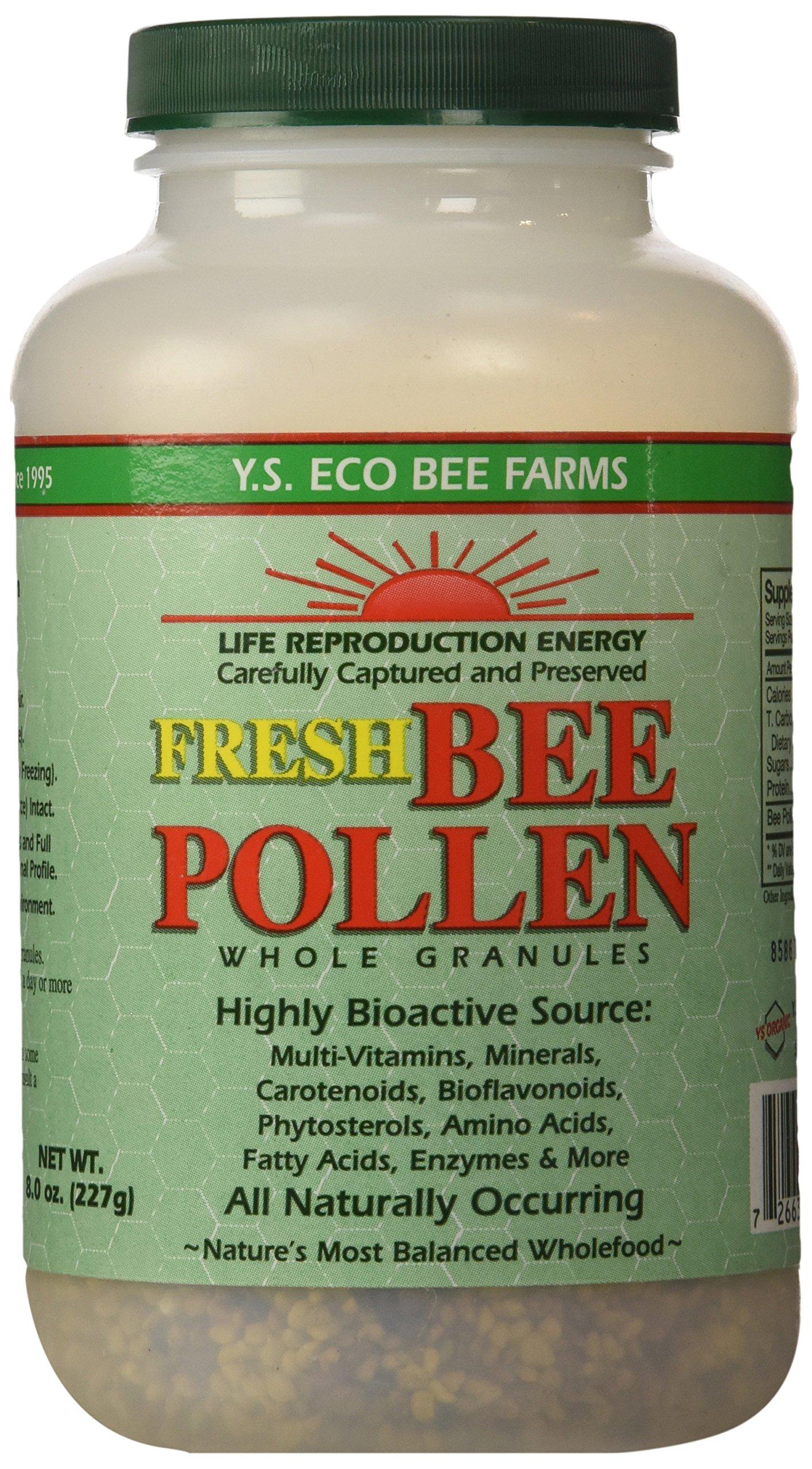 Y.S. Organics Fresh Bee Pollen Whole Granules, 8 Ounce