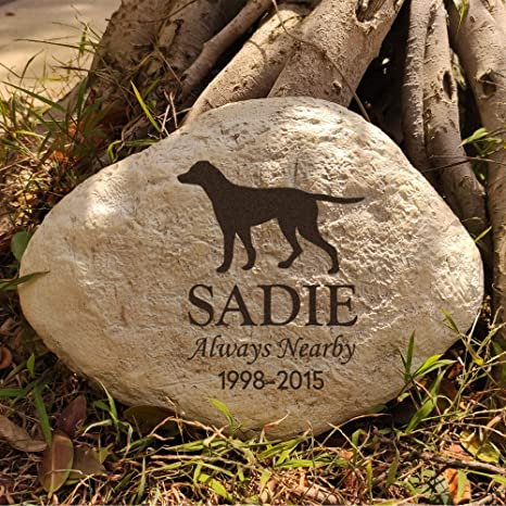 PERSONALIZED Pet Memorial Stone  REVERSE Engraved Stone  Customized  Grave Marker  Headstone  Garden Stone  Gift