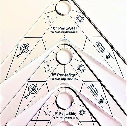Quilting Templates | Amazon Com Pentastar Fm 6 8 10 Free Motion Machine Quilting