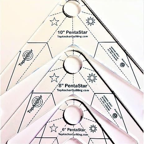 pentastar fm 6 8 10 free motion machine quilting templates 3pc fm - Quilting Templates Free