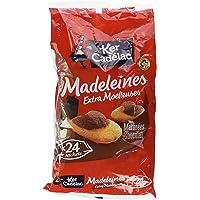 KER CADELAC Madeleines Marbrées Cacao Extra Moelleuses 600 g - Lot de 4 (Sachets de 24 x 4)