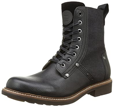 G-Star Raw Men's Labour Boot Ankle Bootie, Black, 41 EU/8
