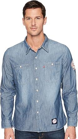22e2e15613 Levi s Mens Men s NY Yankees LSC Chambray Shirt Blue XX-Large at ...