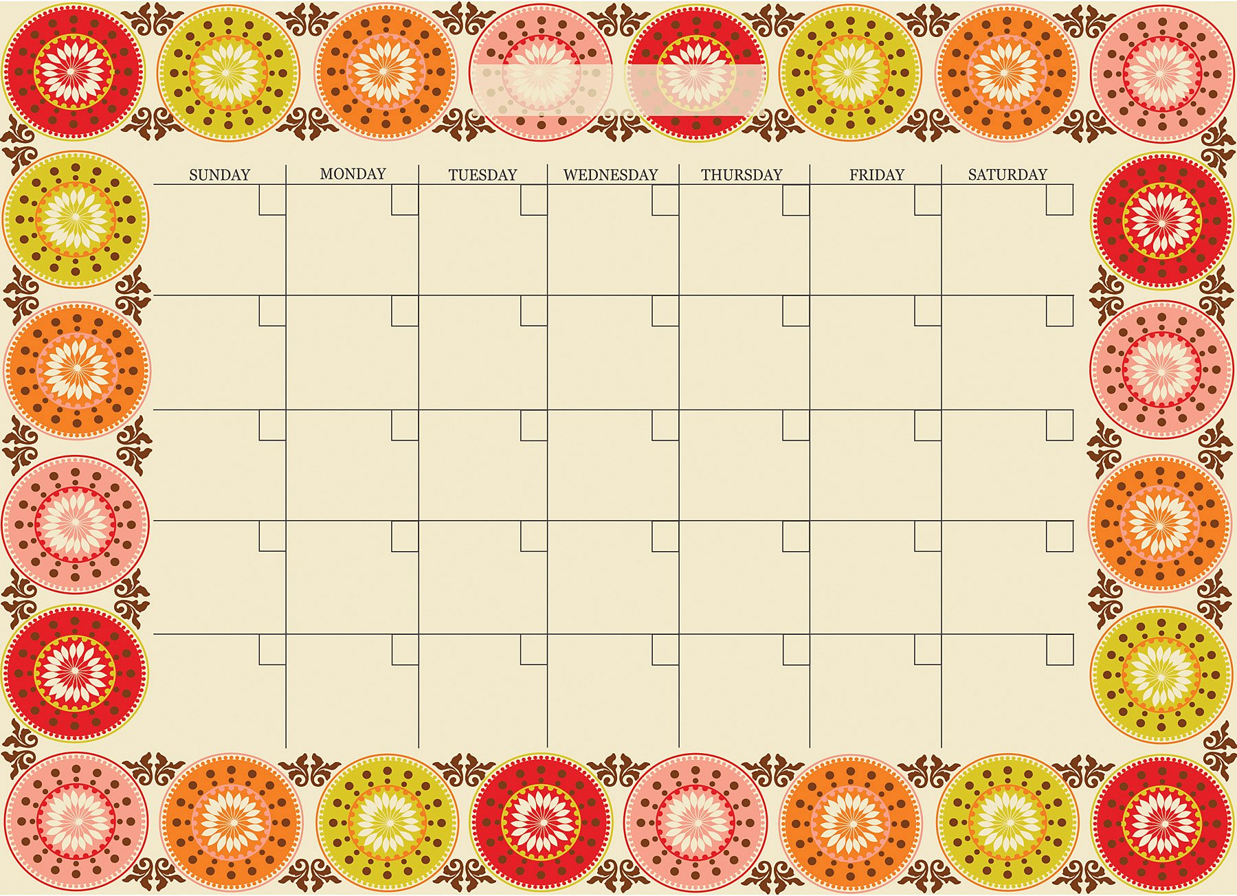 Carnivalé Monthly Dry-erase Calendar Decal