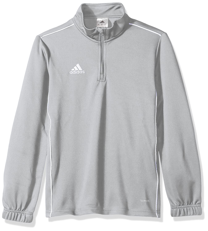 Adidasユニセックスユースサッカーcore18トレーニングトップ B071DTZZBF Small|Stone/White Stone/White Small