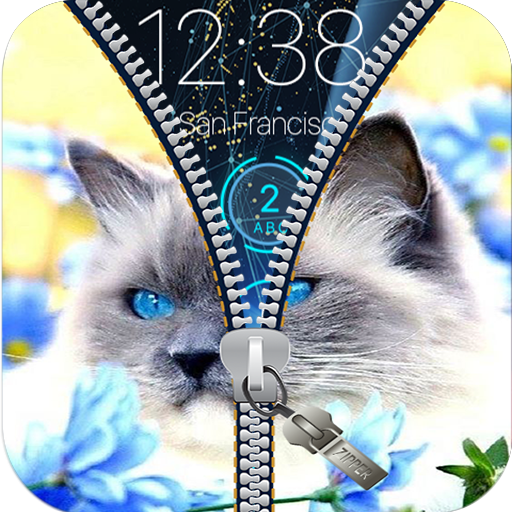 Zipper Lock Screen Ketty Cat Pro 2018 (Cat Dog Wallpaper)