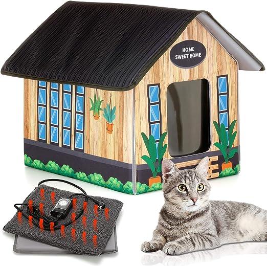 Как сделать домик для кошки своими руками: из картонной коробки ... | 521x522