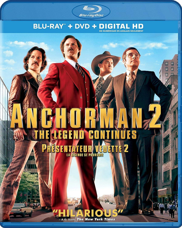 Anchorman 2: The Legend Continues Blu-ray + DVD + Digital Hd ...