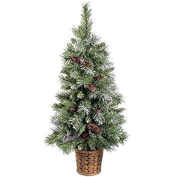 WeRChristmas Scandinavian Blue Spruce Christmas Tree with Pine ...