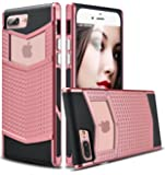 iPhone 8 Plus Case, iPhone 7 Plus Case, Ansiwee Anti-slip Shockproof Armor iPhone 7 Plus Protective Defender Case Slim Fit Non-slip Grip Rubber Bumper Case for iPhone 7/8 Plus 5.5 Inch (Rose Gold)