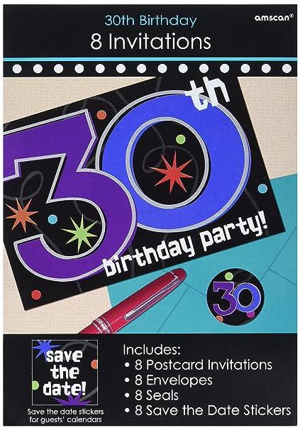 amazon com 30th birthday party invitations decoration 8 pieces