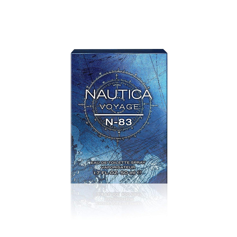 Nautica N-83 Voyage Eau de Toilette for Men, 1.7 oz., Nautica s Classic Men s Scent, Water Sailing Inspired Fragrance, Great Gift