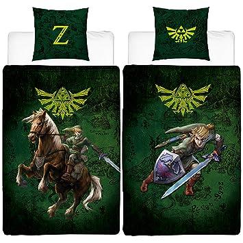 Beronage The Legend Of Zelda Parure De Lit Réversible En Linon 100