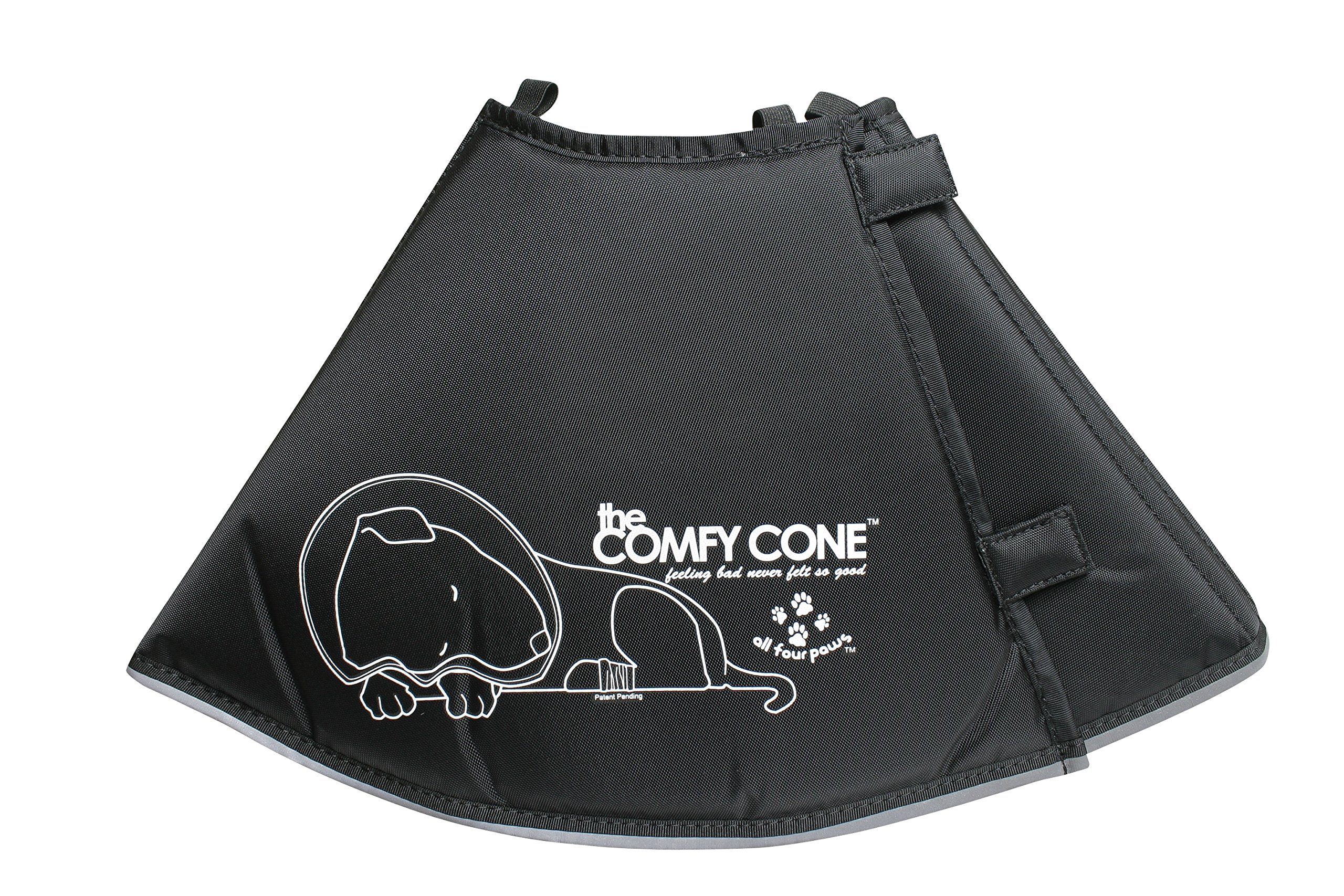 The Original Comfy Cone, Soft Pet Recovery Collar with Removable Stays,Large 25 cm by All Four Paws