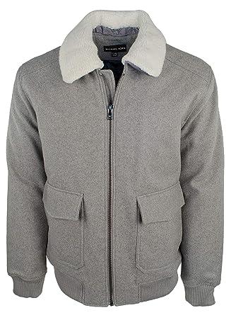 3b1877a0440cf Michael Kors Men s Wool Blend Detachable Faux Fur Collar Bomber Jacket-S-XXL