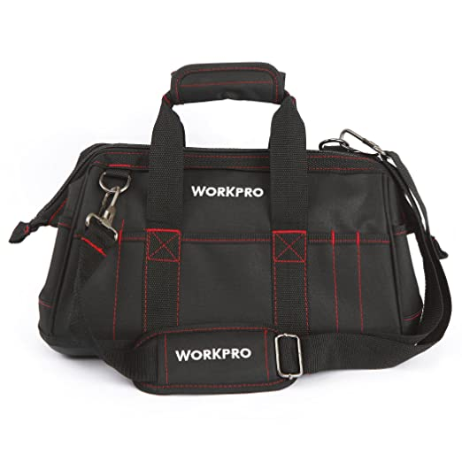 33 opinioni per WORKPRO W081022AU- Borsa porta utensili per attrezzi ad apertura larga con base
