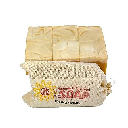 Goat Milk Soap – HONEYSUCKLE. All-Natural, Handmade by Goat Milk Stuff. Bars 5 oz. each, 4 Count