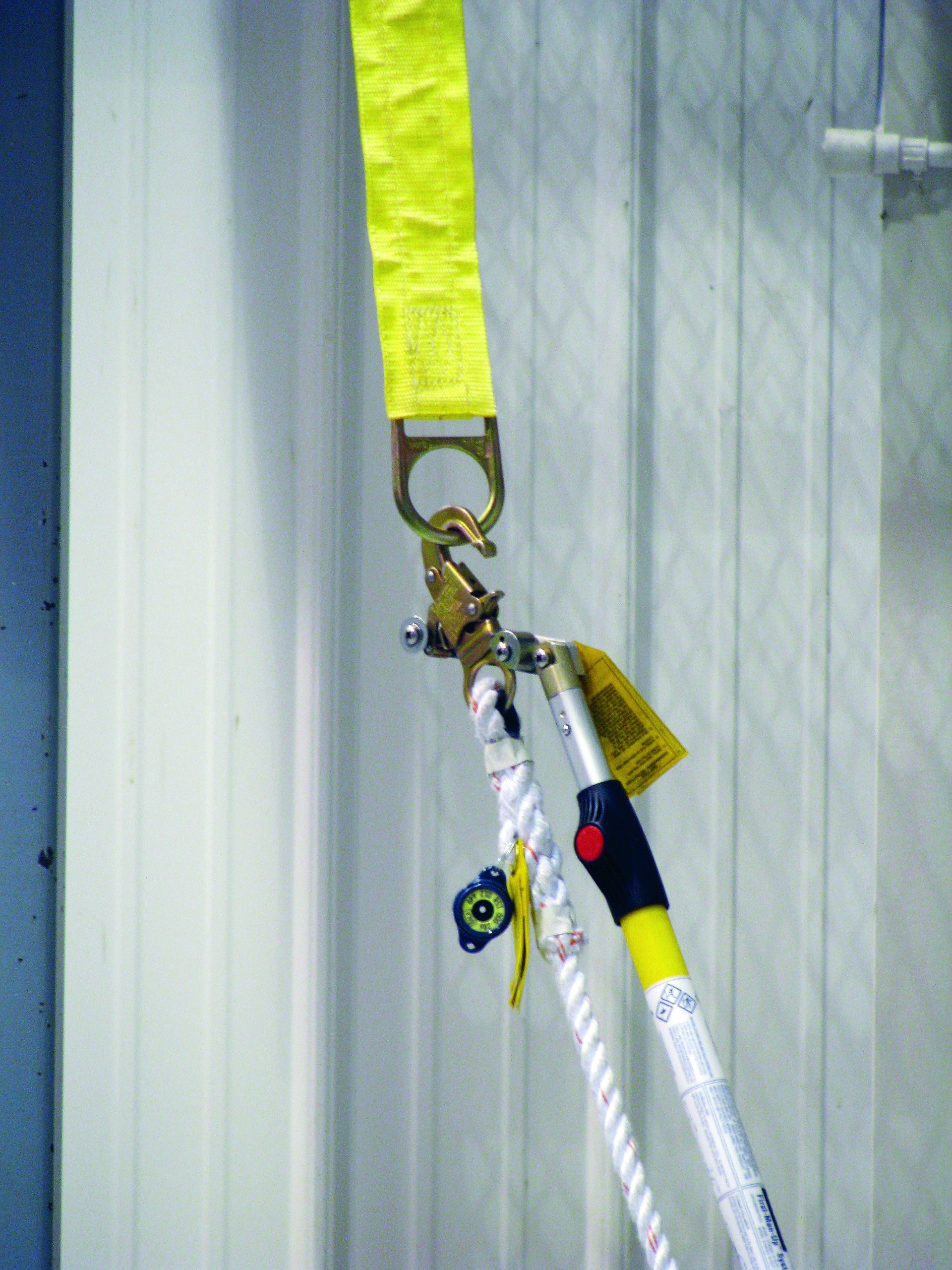 3M DBI SALA First-Man-Up 2104528 Remote Anchor System, 8' to 16' adjustable pole, Tie-Off Adaptor and Snap Hook Installation/Removal Tool, 3' Tie-Off Adaptor, Carrying Bag, Navy/Yellow by 3M Fall Protection Business (Image #2)