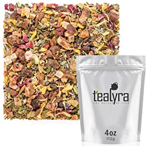 Tealyra - Lavender Peach Relief - Relaxing Wellness Herbal Loose Leaf Tea - Calming - Digestive - Perfect Evening Drink - All Natural - Caffeine Free - 112g (4-ounce)